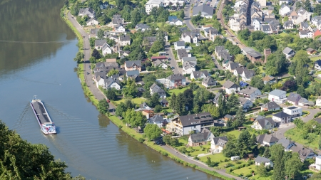 Aerial view of Traben-Trarbach at the river Moselle in Germany Stock Photo - 14677141
