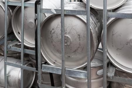 Metal beer barrels ready for transportation Stock Photo - 14677065