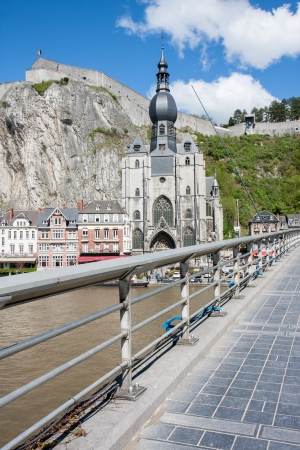 Dinant in the Belgium Ardennes on River Meuse photo
