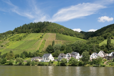 View at Bullay, a little town along the river Moselle in Germany photo