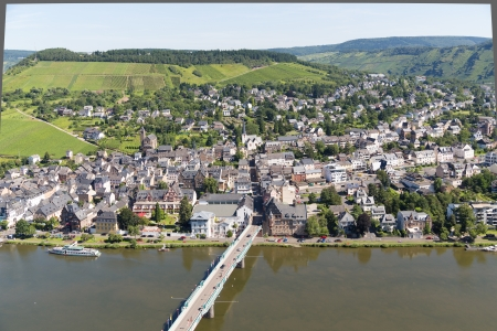 mosel: German city Traben Trarbach along the river Moselle