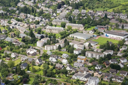 Aerial view of German city Traben Trarbach Stock Photo - 17124491