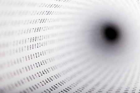 the depth: Paper with digits showing  shallow depth   digits Stock Photo