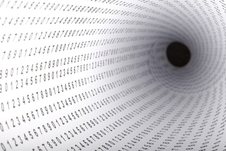 depth: Paper with digits showing  shallow depth   digits Stock Photo