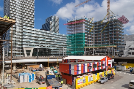 THE HAGUE - SEPTEMBER 05: Building activities at the new central station of The Hague on September 05, 2012 in The Hague, The Netherlands Stock Photo - 17393183
