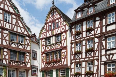 moseltal: Medieval houses in Bernkastel, Germany