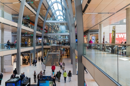 HAMBURG - APRIL 25: Unknown people in shopping mall Europassage on April 25, 2013 in Hamburg, Germany
