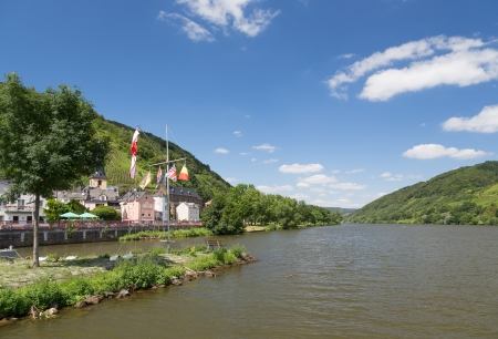 alf: Village Alf along river Moselle in Germany Stock Photo