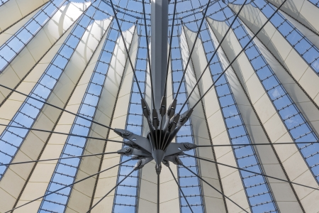 Glass ceiling of Sony center in Berlin, Germany