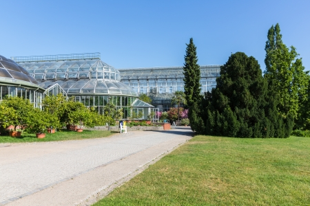 Big greenhouse in the botanical garden of Berlin Stock Photo - 21837938