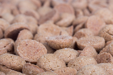 ginger nuts: Background of brown ginger nuts, typical Dutch sweets at Sinterklaas event in december Stock Photo