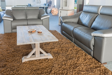 Showroom of furniture shop with a modern sitting area