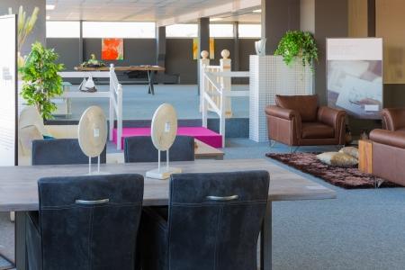 Showroom of modern furniture store