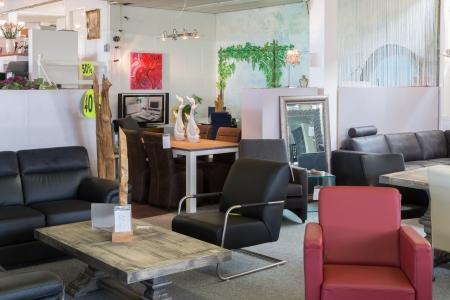 Showroom of modern furniture store photo