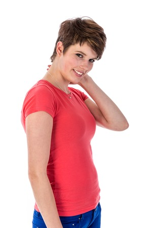 appealing: Beautiful woman with an appealing smile Stock Photo