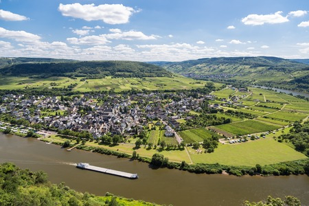 Aerial view of Moselle River in Germany near Punderich photo