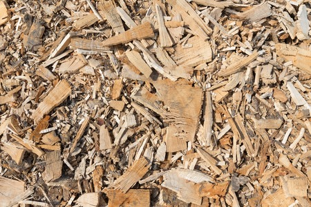 Background of wood chippings photo