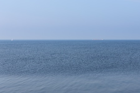 Endless Dutch sea with blue sky Stock Photo - 27368259