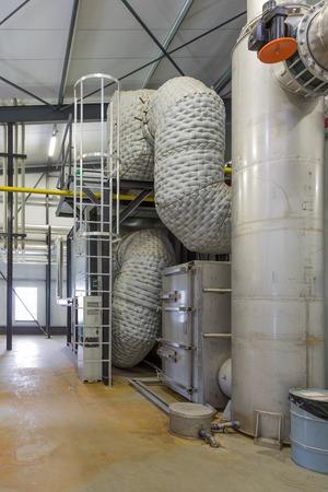Centrale met gecombineerde productie van warmte en elektriciteit in een Nederlandse kas