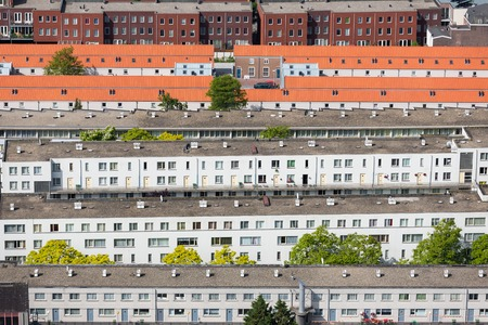 Aerial view residential area in The Hague, The Netherlands photo