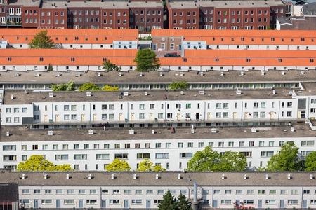 Luchtfoto woonwijk in Den Haag, Nederland Stockfoto - 29656437