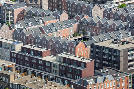 Aerial cityscape of The Hague, governmental city of the Netherlands photo