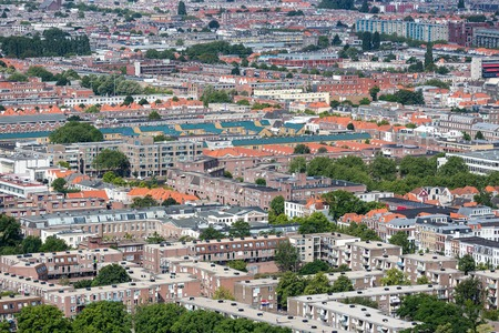 governmental: Aerial cityscape of The Hague, governmental city of the Netherlands Stock Photo