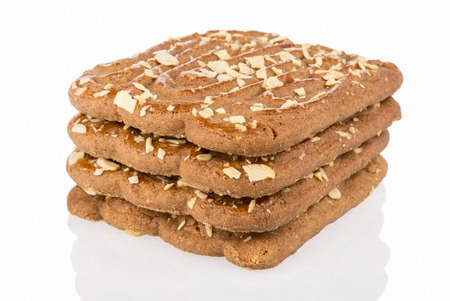 speculaas: Speculaas,  typical Dutch sweets isolated over white Stock Photo