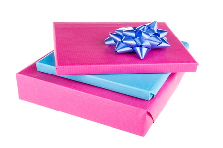 suprise: Wrapped gifts isolated on a white background