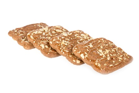 speculaas: Speculaas, typical Dutch sweets over white
