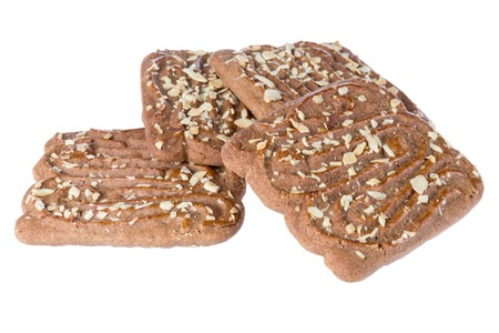 Speculaas, typical Dutch sweets over white photo