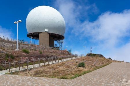 nato summit: Radar station at top of Pico do Arieiro, Madeira Island, Portugal