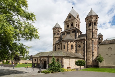 benedictine: Old medieval benedictine Abbey in Maria Laach, Germany