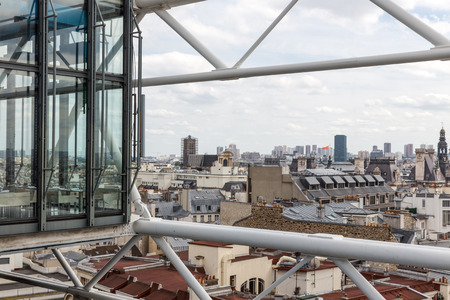 georges: Aerial view at Paris from roof terrace of Centre Pompidou