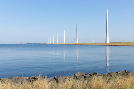 windturbines: Dutch sea with new big windturbines under construction