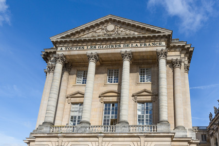 paris france: Facade of the Royal Chateau of Versailles near Paris, France