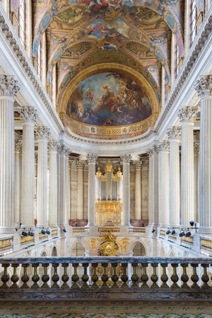 louis the rich heritage: VERSAILLES PARIS, FRANCE - MAY 30: Royal chapel of the Palais Versailles on May 30, 2015 at the Palace of Versailles near Paris, France