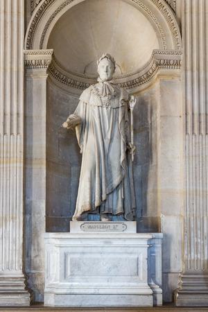 bonaparte: VERSAILLES PARIS, FRANCE - MAY 30: Statue of Napoleon Bonaparte on May 30, 2015 at the Palace of Versailles near Paris, France