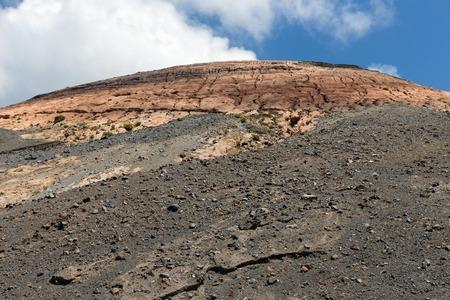 aeolian: Top view volcano at Vulcano, one of the Aeolian Islands near Sicily, Italy