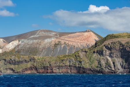 View at Vulcano Island of Aeolian Islands near Sicily, Italy