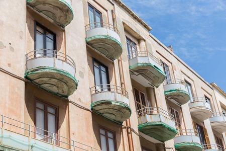 ortigia: Houses with balcony at Syracusa, Sicily Italy