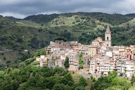 View at Novara di Sicilia, inland mountain village of Sicily