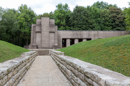 French First World War One memorial Trench of Bayonets at Douaumont Stock Photo