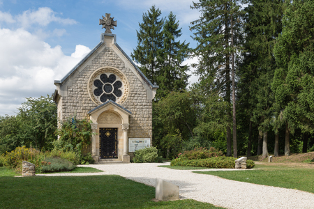 Memorial chapel at the former place of the French village Fleury which was completely destroyed during First World War One