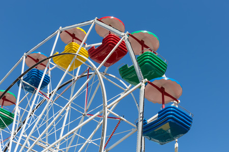 Ferris wheel at the harbor of Urk during a local fishing day event Stock Photo