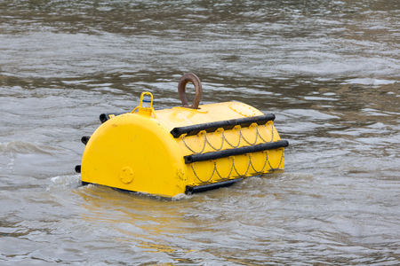 Mooring buoy in River Thames, London, England