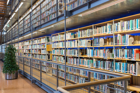 DELFT, THE NETHERLANDS - AUGUST 19, 2017:  Library Technical University Delft in The Netherlands