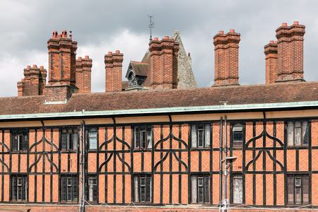 windsor: Brick chimney at buildings near Windsor Castle in England Editorial