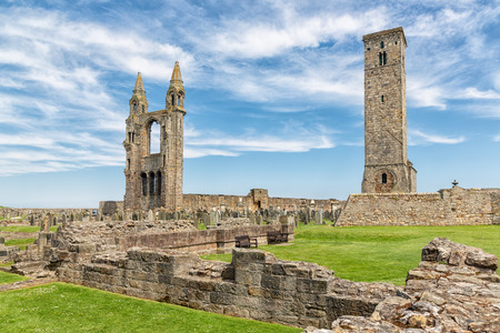Ruins and graveyard Cathedral of St Andrews, Scotland