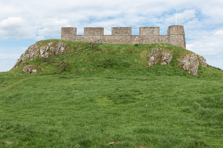Ruin of old castle in Scottish borders near Hume